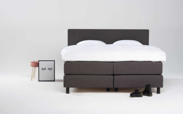 Eastborn-boxspring donker grijs antraciet