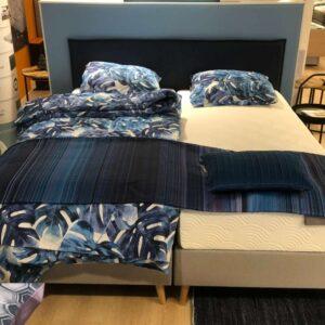 goedkope-blauwe-boxspring-tempur